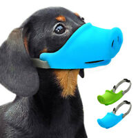 Silicone Dog Muzzle Basket Cage Pig Mouth Shape No Biting Bark for Small Dogs US