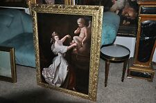 Beautiful Large Allegorical Victorian Salon Oil Painting
