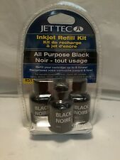 Jettec inkjet refill kit black  for cannon,brother,dell,Xerox, compact and more