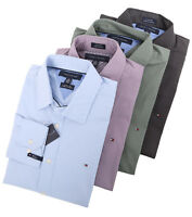 Tommy Hilfiger Men's Long Sleeve Button-Down Solid Casual Shirt - $0 Free Ship