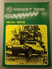 MG Midget 1500cc, 1975-1979 by Brooklands Books Ltd (2006, Paperback)-Mint