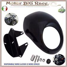 Moto Faro Anteriore Visiera Cupolino Harley Sportster Dyna FX/XL Nero Opaco M80