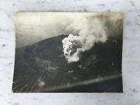 VECCHIA FOTOGRAFIA VESUVIO FOTO AEREA MAGGIO 1918 OLD PHOTOGRAPH