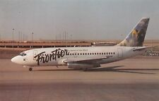 Frontier B-737-200  Airplane Postcard