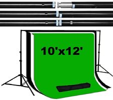 Pro 10'x10' 100% steel made backdrop stand support system 10'x12' backdrops kit