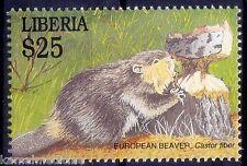 Liberia Mnh, European Beaver, Largest Rodent (P52)