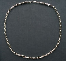 "STERLING SILVER CHAIN NECKLACE 22""  SOLID 925  INTERLOCKED"