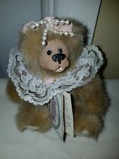 "Kimbearly's Originals 6.5"" Mini Stella Bear Resin Face Teddy Bear Kimberly Hunt"