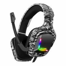 ONIKUMA K20 Gaming Headset Kopfhörer Mikrofon LED für PC Laptop PS4 PS5 Xbox One