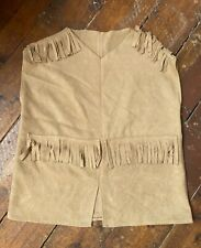 Handmade Faux Suede Tunic Top With Tassels Medium 1970s Vintage Style