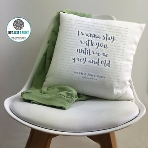 James Arthur Say You Won't Let Go Personalised Cushion 2nd Cotton Anniversary