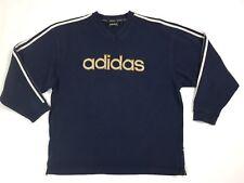 Adidas felpa tuta vintage M blu usato uomo track usato maglia usata sport T2997