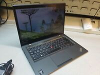 "LENOVO X1 CARBON ULTRABOOK [ i5 1.70GHZ 8GB 256GB SSD] 14"" WQHD TOUCH LAPTOP #C"