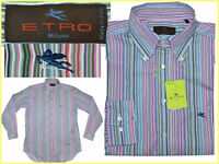 ETRO Camisa Hombre Made in Italy Talla L-XL  Hasta -80 % ET01  N1G