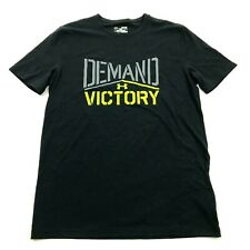 Under Armour DEMAND VICTORY Shirt Size S Small Adult Black Gym Tee Short Sleeve