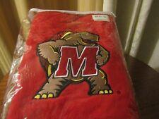 "New NCAA Maryland Terps Terrapins Fleece Blanket Throw ""Testudo"" Fear the Turtle"
