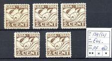 NEDERLAND # 139 ( 5 x )  KW € 45  **  PF      PR EX   @7