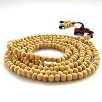 216Beads--Wood Tibet Buddhist Prayer Worry Beads Mala Necklace