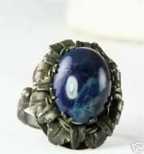 Sterling Silver Lapis Ring Antique Arts And Crafts