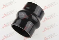 """89mm 3.5"""" Hump Straight Silicone Hose Intercooler Coupler Tube Pipe Black"""