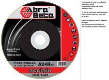 DISCO  * ABRA BETA * DA SBAVO SGROSSO  SMERIGLIATRICE 115 X6,5mm ACCIAIO 50PEZZI