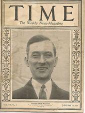 Time Magazine January  11, 1926 James John Walker