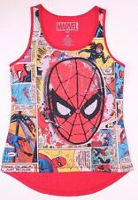Marvel Comics Spider-Man Top Shirt Blouse Women NWT Size Medium 100% Polyester