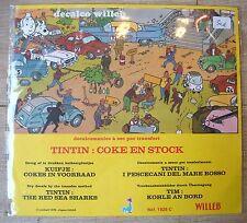 DECALCO WILLEB HERGE TINTIN COKE EN STOCK 1978