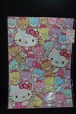 Sanrio Hello Kitty Clear File Set 2 A4 Files Hello Kitty x Tiny Chum Pattern