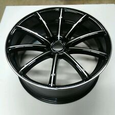 22X9 White Diamond w-3195 5x115 Black Machined Wheels +20mm 73.1CB
