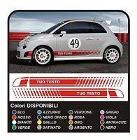 Adesivi per FIAT 500 ABARTH fasce laterali FIAT 500 assetto corse stickers decal