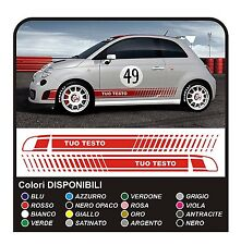 KIT Adesivi per FIAT 500 ABARTH fasce FIAT 500 assetto corse NEW stickers decals