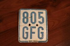 GERMANY EURO LICENSE PLATE #805GFG MOPED