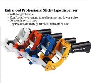 Prosun Packing Tape Dispenser Gun 48mm Roll Sticky Packaging Dispenser Low Noise