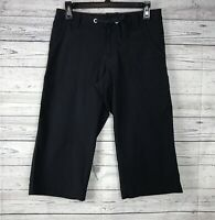 LUCY Women's Black Lightweight Athletic Activewear Capri / Cropped Pants Size XS