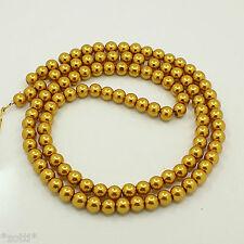500 Glass Wax Beads 8mm Metallic Gold Pearls Glass Pearls Wholesale Convolute #