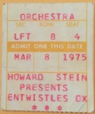 Entwistles Ox~Vintage Concert Ticket Stub~1975 Nyc Small Club in Manhattan~Rare