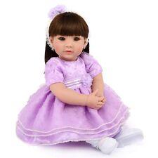"20"" Toddler Long Wig Girl Doll Newborn Babies Vinyl Silicone Reborn Baby Dolls"