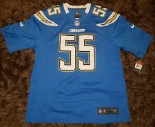 New listing Nike Junior Seau San Diego Chargers #55 Powder Blue Home Jersey NFL NWT Size L