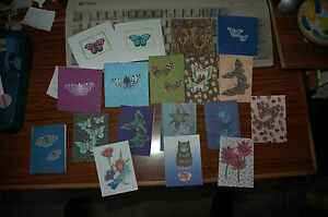 SUPER SALE!!! Pk OF 18 MINI MIXED SIZES GIFT NOTELETS bySELF-REP' ARTIST FREEP&P