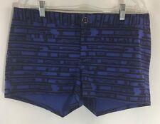 Women's GAP Blue black Print Shorts Sz 12 EUC