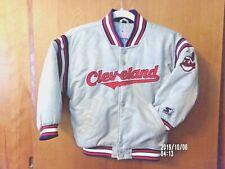 Child Sz. Large Cleveland Indians Starter Jacket w/Chief Wahoo Emblem Silver