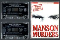MANSON MURDERS CHARLES MANSON SHARON TATE MURDER TRUE CRIME 2 x AUDIO CASSETTES