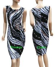 Wiggle/Pencil Unbranded Regular Geometric Dresses for Women