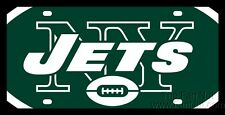New York Jets Printed MEGA Style Deluxe Laser Acrylic License Plate Tag Football