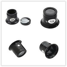 1pcs Black Round 10x Eye Loupe Jewelers Eyepiece Diamond Magnifying Bhool Kit BH