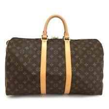 100% Authentic Louis Vuitton Monogram Keepall 45 Boston Travel Hand Bag /10750