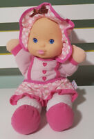 BABY'S FIRST DOLL TALKING PLUSH TOY! 30CM TALL KIDS TOY! SAYS I LOVE YOU PINK