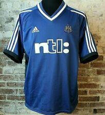 Vtg 2001 Adidas Newcastle United Fc Soccer Jersey Blue Away Men's Xl Euc
