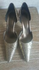 Gold Glitter Ladies Shoes Euro 38 VGC